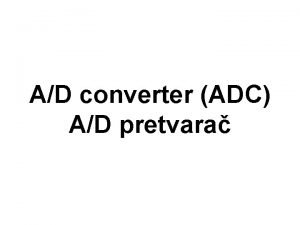 AD converter ADC AD pretvara ADC Mikrokontroler ume