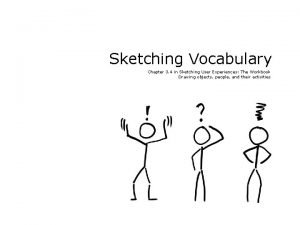 Sketching Vocabulary Chapter 3 4 in Sketching User