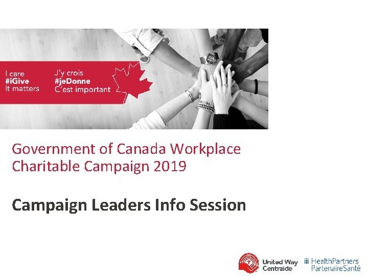 Government of Canada Workplace Charitable Campaign 2019 Campaign