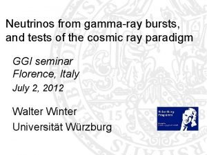 Neutrinos from gammaray bursts and tests of the