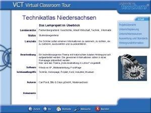Technikatlas Niedersachsen Das Lernprojekt im berblick Lernbereiche Stufen