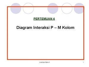 PERTEMUAN 4 Diagram Interaksi P M Kolom Konstruksi