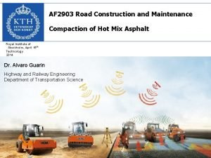 AF 2903 Road Construction and Maintenance Compaction of