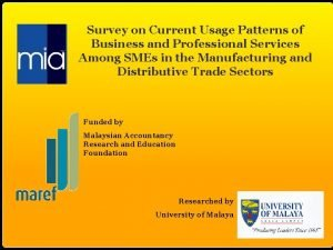 Survey on Current Usage Patterns of Business and