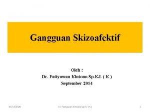 Gangguan Skizoafektif Oleh Dr Fattyawan Kintono Sp KJ
