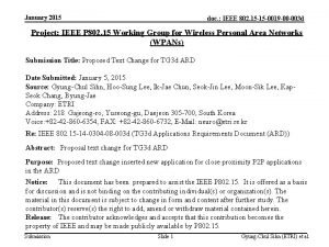 January 2015 doc IEEE 802 15 15 0019