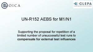 UNR 152 AEBS for M 1N 1 Supporting