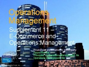 Operations Management Supplement 11 ECommerce and Operations Management