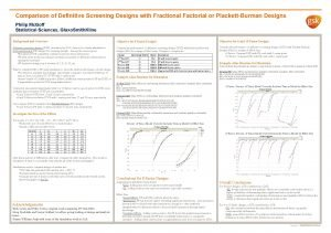 Comparison of Definitive Screening Designs with Fractional Factorial