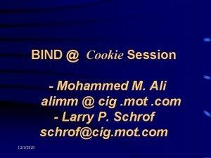 BIND Cookie Session Mohammed M Ali alimm cig