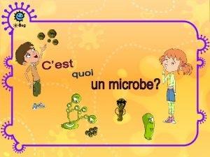 Les microbes sont des organismes vivants Ils sont
