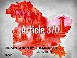 PRESENTATION BY SUMANA SEN APARAJITA ROY WHAT IS