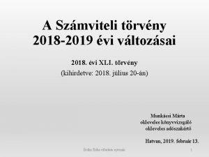 A Szmviteli trvny 2018 2019 vi vltozsai 2018