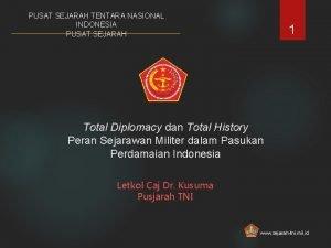 PUSAT SEJARAH TENTARA NASIONAL INDONESIA PUSAT SEJARAH 1