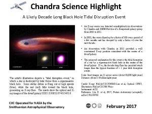 Chandra Science Highlight A Likely Decade Long Black