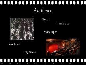 Audience By Kate Hurst Mark Piper Julie Innes