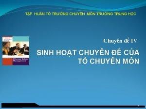 TP HUN T TRNG CHUYN MN TRNG TRUNG