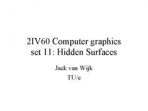 2 IV 60 Computer graphics set 11 Hidden