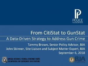 From Citi Stat to Gun Stat A DataDriven