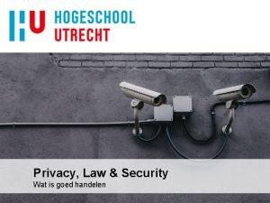Privacy Law Security Wat is goed handelen Bijeenkomsten