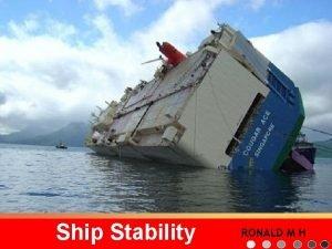 Ship Stability ronald mhutaurulgmail com RONALD M H