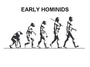 EARLY HOMINIDS AUSTRALOPITHECUS AFARENSIS Lucy Discovered in Africa