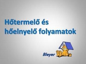 Htermel s helnyel folyamatok Bleyer Energiavltozs szerint Htermel