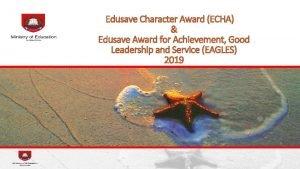 Edusave Character Award ECHA Edusave Award for Achievement