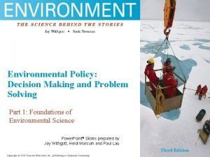 fgh Environmental Policy sfg Decision Making and Problem