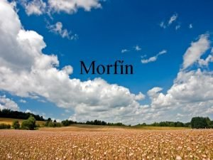 Morfn Morfn alebo morfium je hlavn alkaloid pia