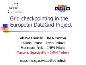 Grid checkpointing in the European Data Grid Project
