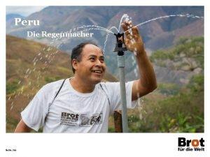Peru Die Regenmacher Seite 22 Peru Deutschland Flche