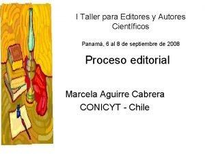 I Taller para Editores y Autores Cientficos Panam
