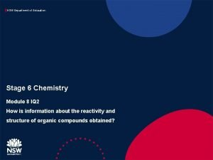 NSW Department of Education Stage 6 Chemistry Module
