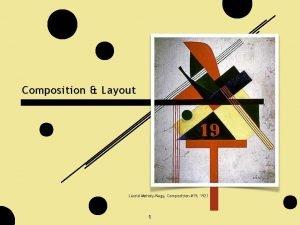 Composition Layout Lszl MoholyNagy Composition 19 1921 1