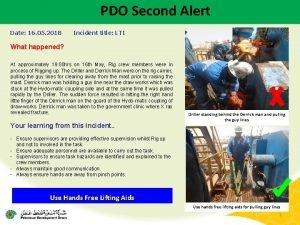 PDO Second Alert Date 16 05 2018 Incident