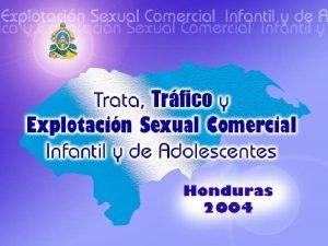 Explotacin Sexual Comercial Infantil y de Adolescentes Explotacin