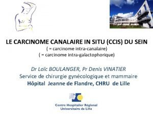 LE CARCINOME CANALAIRE IN SITU CCIS DU SEIN