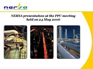 NERSA presentation at the PPC meeting held on