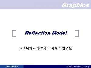 Graphics Reflection Model kucg korea ac kr Graphics