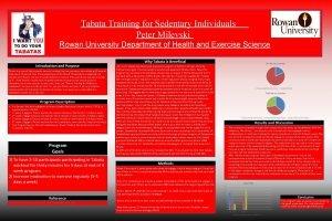 Tabata Training for Sedentary Individuals Peter Milevski Rowan