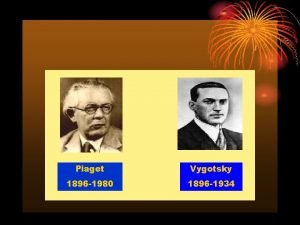 Piaget Vygotsky 1896 1980 1896 1934 Konstruktivisme adalah