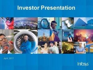 Investor Presentation April 2017 2 Safe Harbor Certain