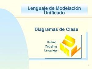 Lenguaje de Modelacin Unificado Diagramas de Clase Unified