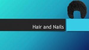 Hair and Nails Hair and Hair Follicles Hair
