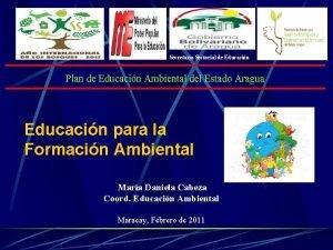 Secretara Sectorial de Educacin Plan de Educacin Ambiental