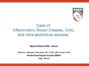 Case of Inflammatory Bowel Disease Colic and intraabdominal