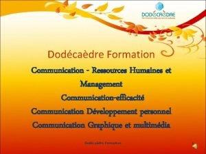 Dodcadre Formation Communication Ressources Humaines et Management Communicationefficacit