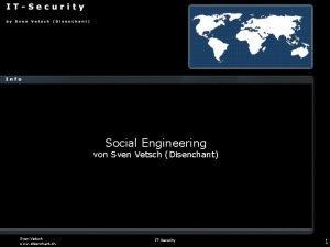 Social Engineering von Sven Vetsch Disenchant Sven Vetsch