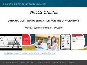 SKILLS ONLINE DYNAMIC CONTINUING EDUCATION SKILLS ONLINE DYNAMIC